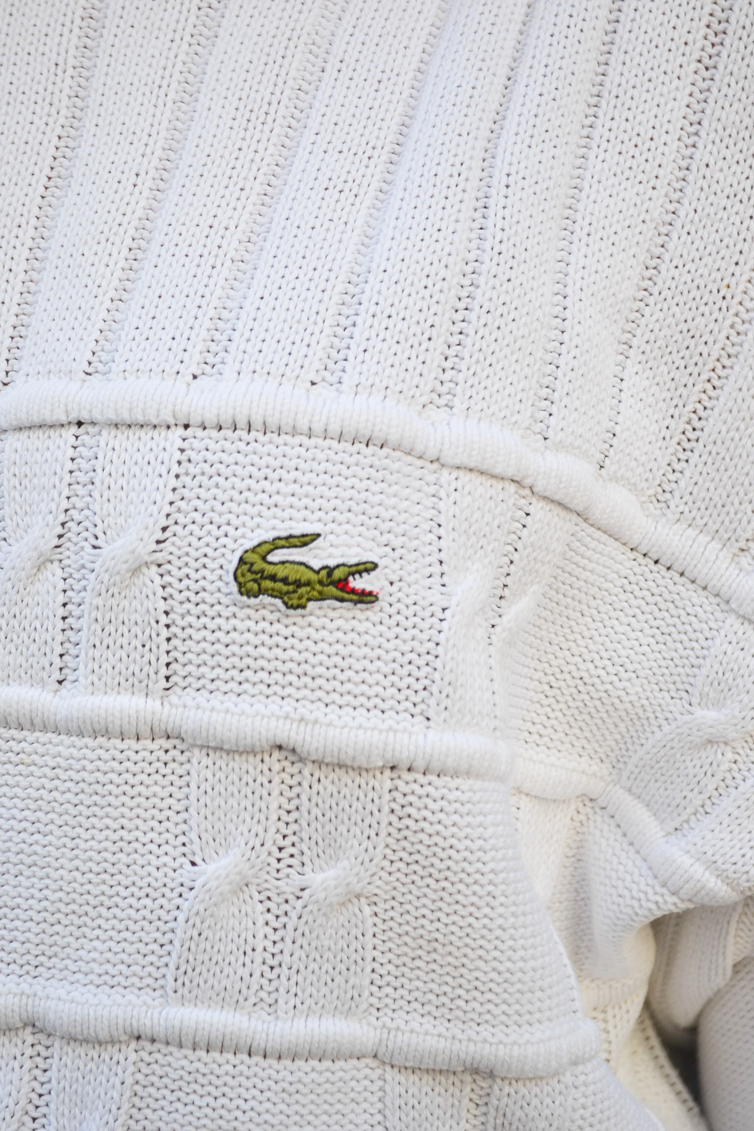 pull lacoste blue madone vintage
