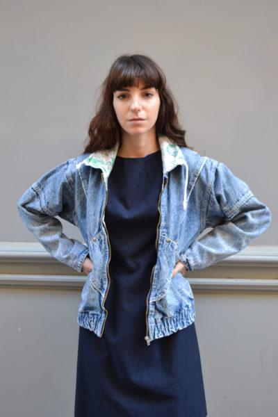 veste en jean blue madone