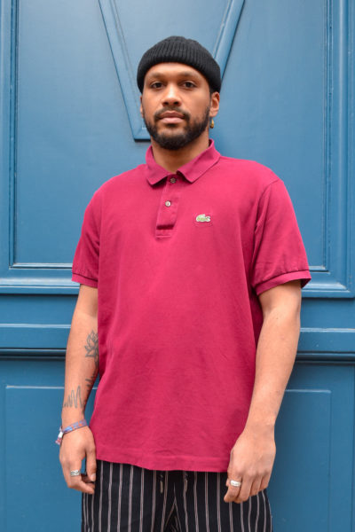 polo lacoste vintage 90's blue madone