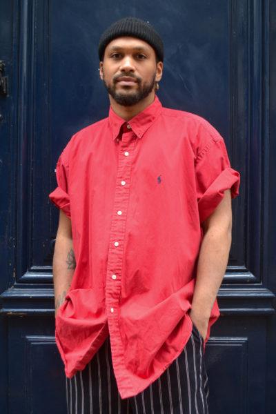 chemise ralph lauren vintage blue madone