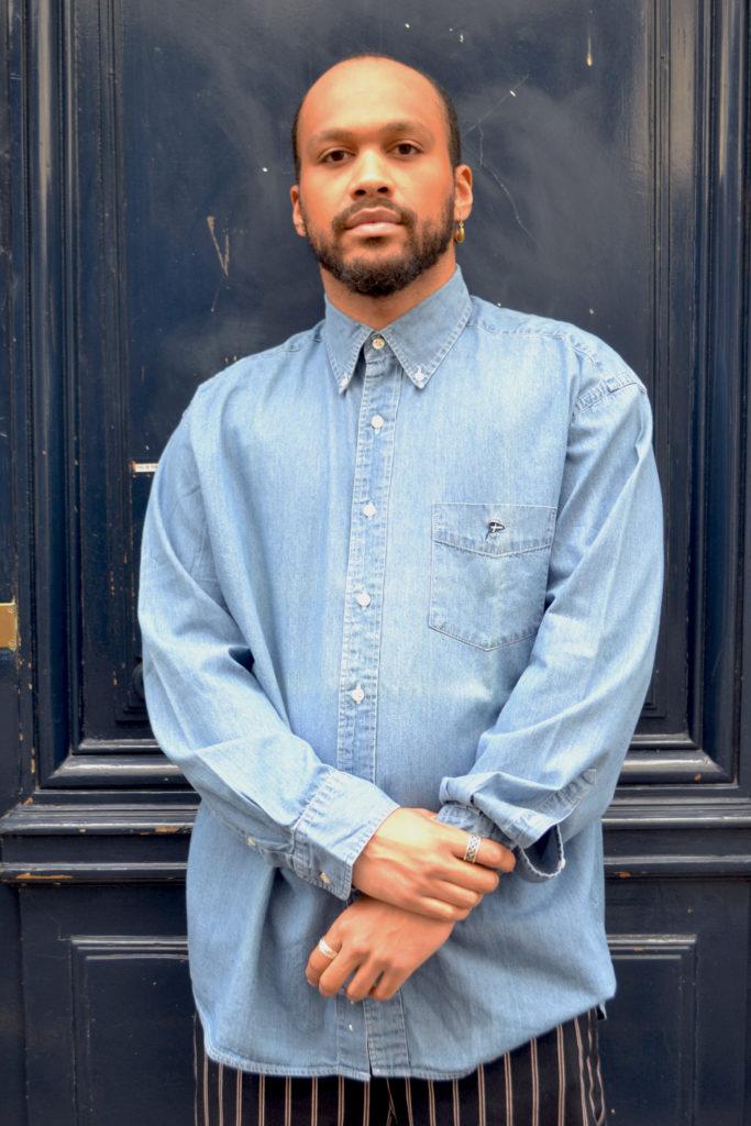 chemise vintage blue madone